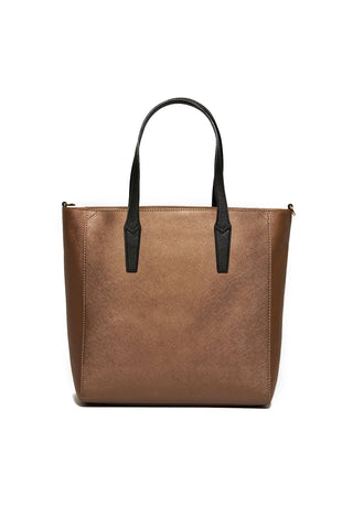 Crossbody Handbags, Tote Handbags, Carry Over Ischia Shopper, Trussardi, $125.00, NARIE Clothing, black, bronze, gunmetal, shopper, tote bags, tote handbags, $125.00, ,