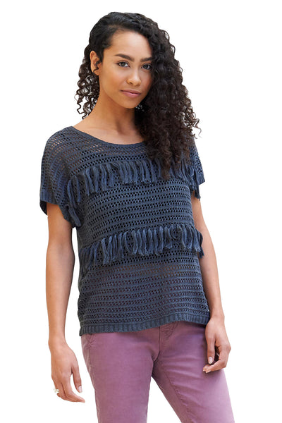 Fringed Crochet Top - NARIE Clothing