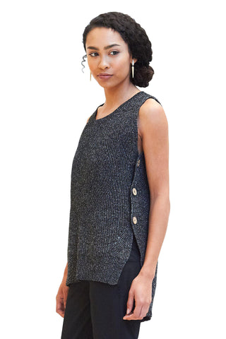 Sweater, Side Button Sweater Vest, Cozy Casual, $40.00, NARIE Clothing, Cozy Casual sweaters, cozy casual tops, sleeveless, Sweater, Sweater vest, Tops, vest, $40.00, $50.00,
