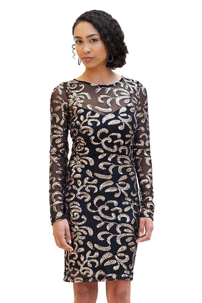 Short Dresses, Sequin Body-Con Dress, MYSTIC, $83.30, NARIE Clothing, Black Dress, bodycon, holiday dress, sequin dress, short, special occasion dress, $83.30, $119.00,