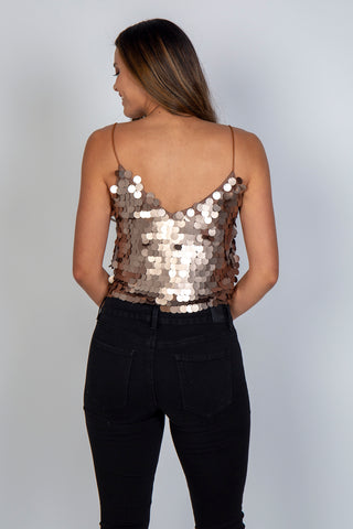 Top, Sequined cropped cami, Luna, $85.00, NARIE Clothing, , $85.00, ,