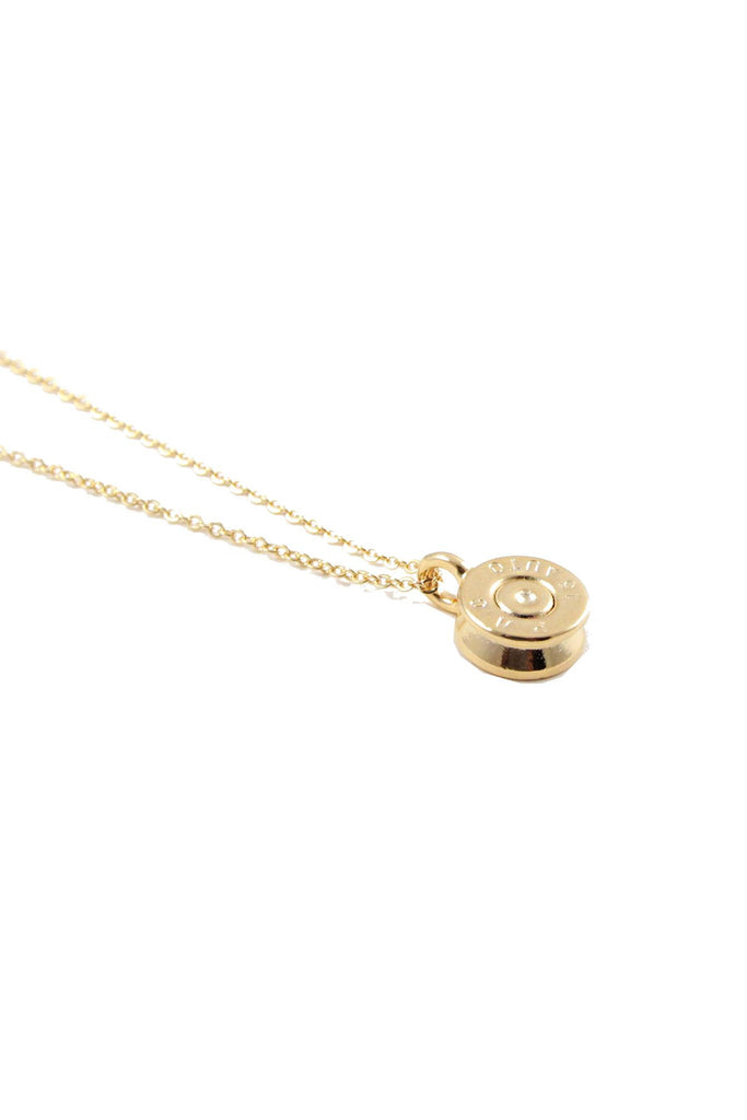 Necklaces, Half United-Tiny Top Bullet Necklace, Half United, $52.00, NARIE Clothing, accessories, gold, gold necklace, half united, jewelry, necklace, Tiny Top Bullet Necklace, $52.00, ,