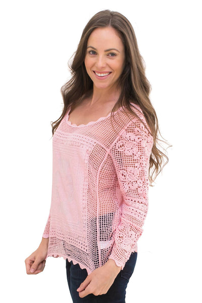 Lace Overlay Shirt - NARIE Clothing