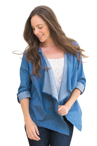 Open Chambray Lightweight Jacket