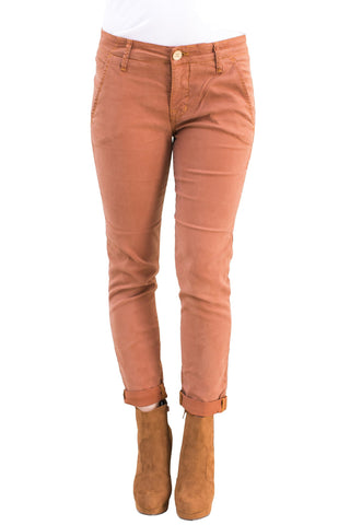 Pants, Everly Cropped Trouser in Paprika, RAVEN DENIM, $135.00, NARIE Clothing, boyfriend, brown, cropped pants, jeans, Narie clothing, orange, pants, paprika, pink, raven, Raven Denim, skinny, Skinny jean, tight, wash, $135.00, ,