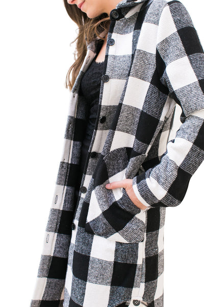 Buffalo Plaid Coat - NARIE Clothing