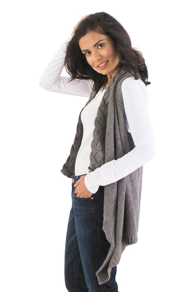 Cable-Knit Vest - NARIE Clothing