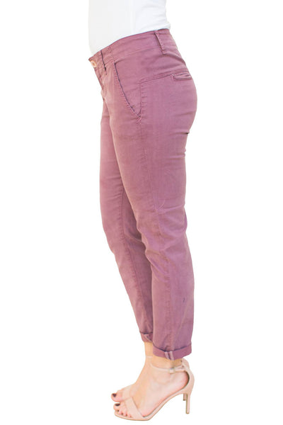 Everly Cropped Trouser in Orchid - NARIE Clothing