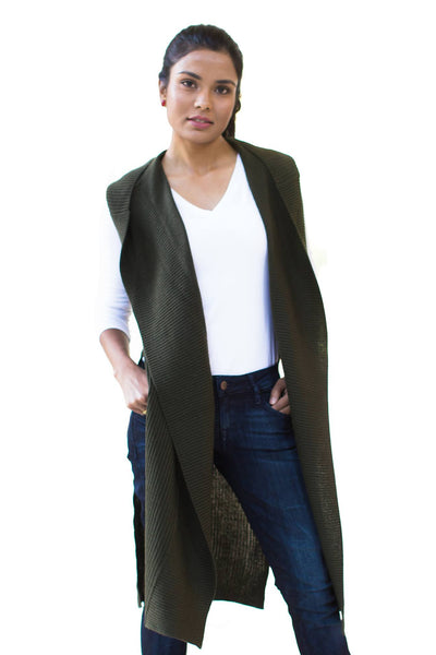 Knitted Sleeveless Cardigan - NARIE Clothing