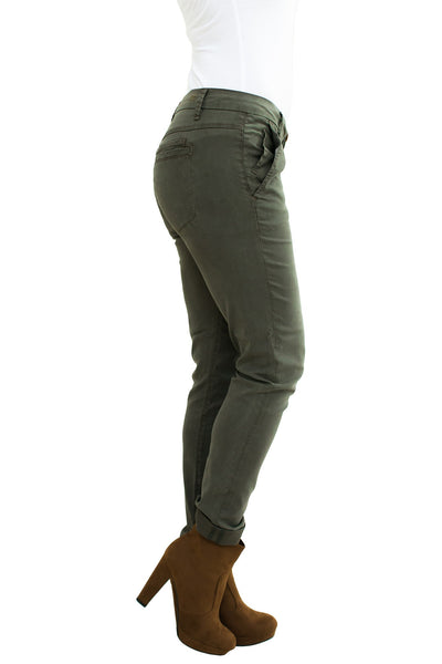 Caden Carrot Chino in Dark Moss - NARIE Clothing