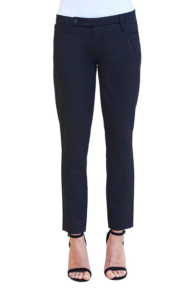 Doris Slim Crop Trouser in Executive Black - NARIE Clothing