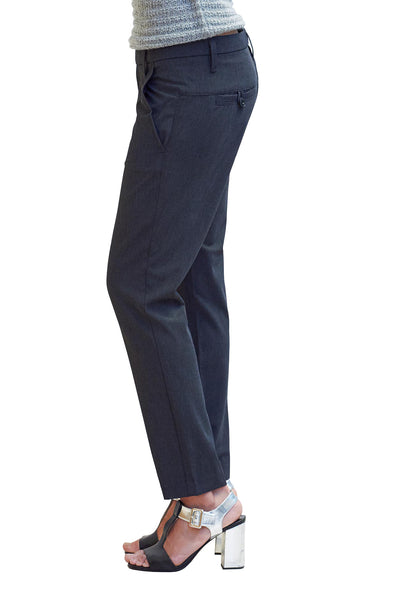 Doris Slim Crop Trouser in Executive Coal - NARIE Clothing