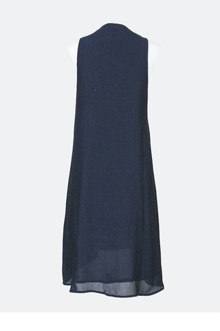 Short Dresses, Beaded Front Lace-Up Slip Dress, Blush Noir, $90.00, NARIE Clothing, beaded, blue dress, Blush Noir, dress, short, silk dress, sleeveless dress, slip dress, $90.00, ,