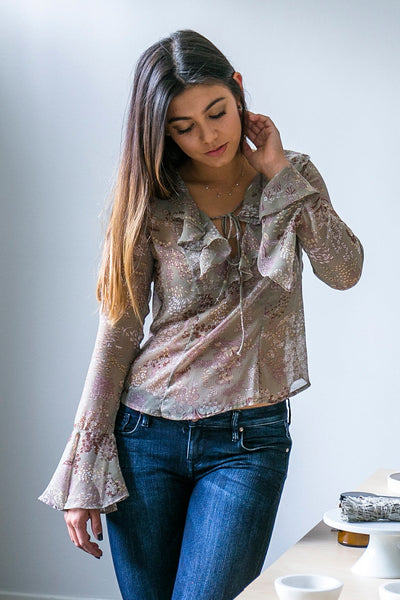 Wild Flower Long Sleeve Top