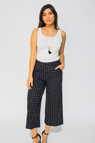Crinkle Check Pant