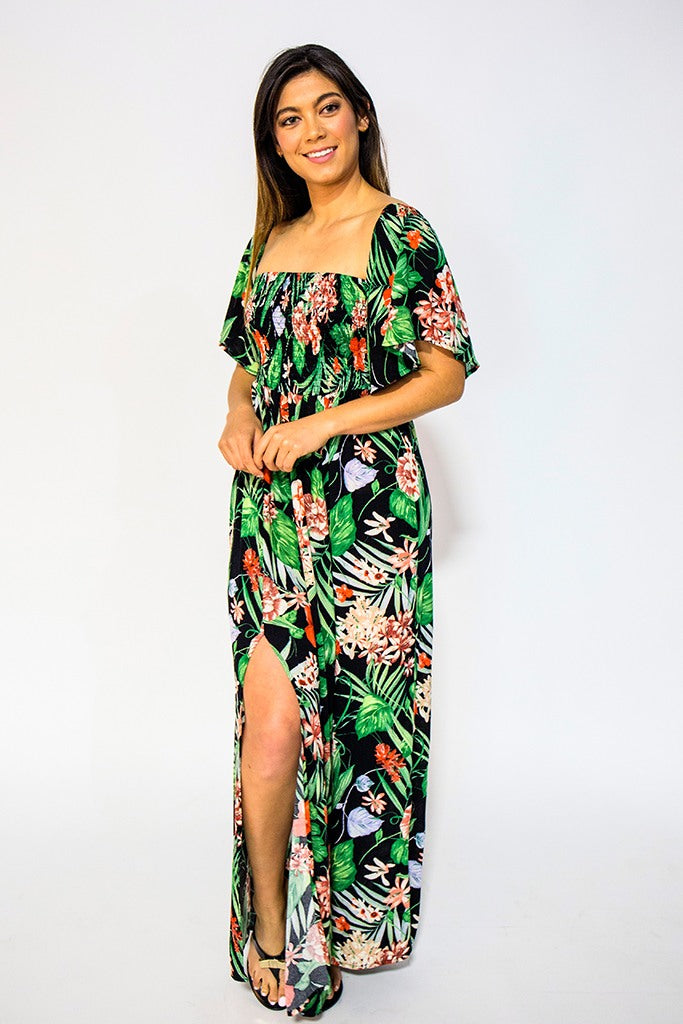 9cd99bd2460 Buy Off Shoulder Floral Maxi Dress at NARIE Clothing for only  70.00