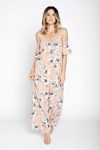 Flower Print Maxi Dress - NARIE Clothing