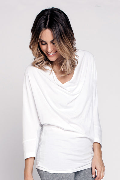Drape Neck Dolman Top - NARIE Clothing