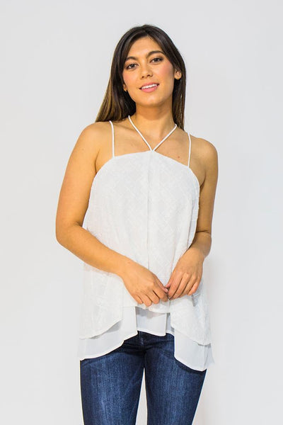 Embroidered Trapeze top