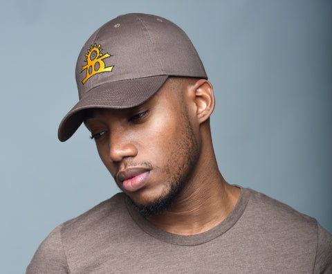 BHarmony Logo Dad Cap Brown, Yellow and Black