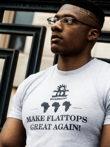 Make Flattops Great Again T Shirt Grey and Black  (Gods) [Unisex]