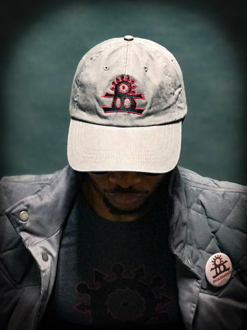 BHarmony Logo Dad Cap Dark Grey Black And Red