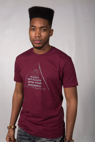Retaliate With Your Success T-shirt Burgundy (Gods)