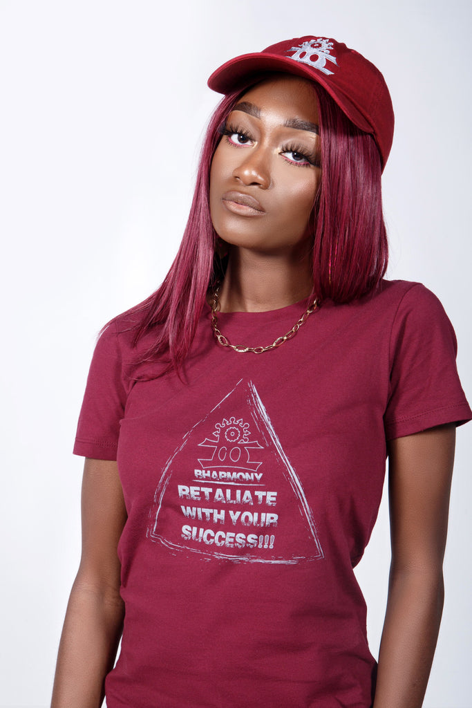 Retaliate With Your Success T-shirt Burgundy (Goddesses)
