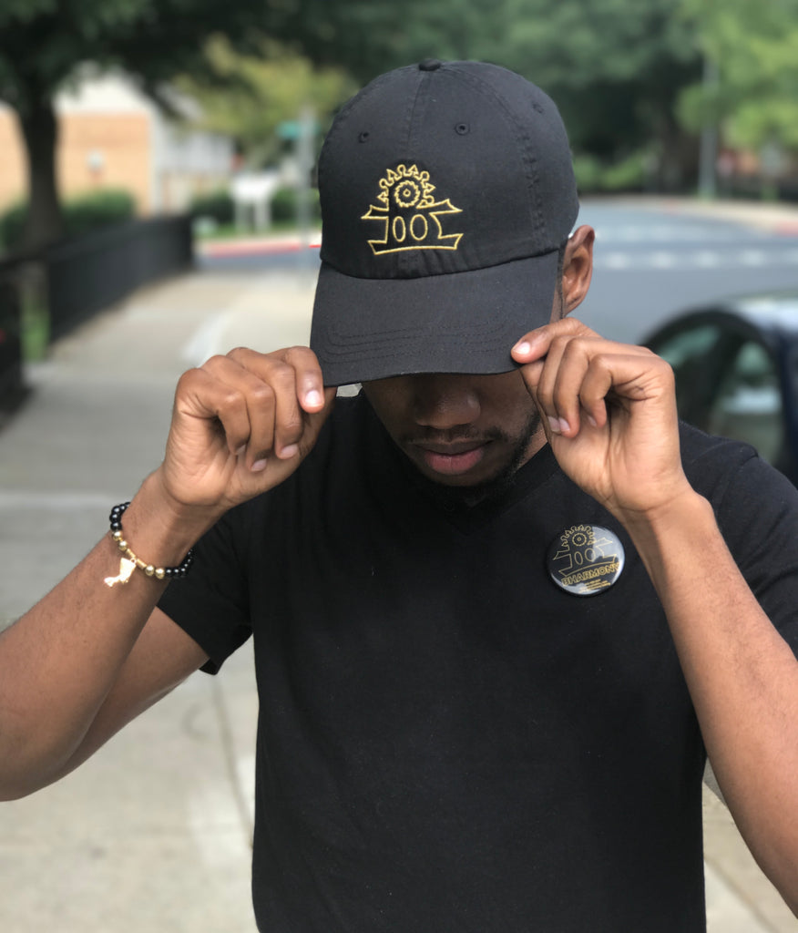 BHarmony Logo Dad Cap Black And Gold