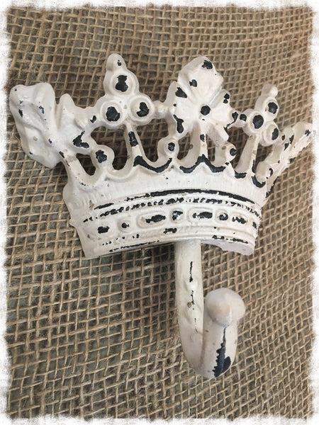 Shabby Metal Crown Wall Hook