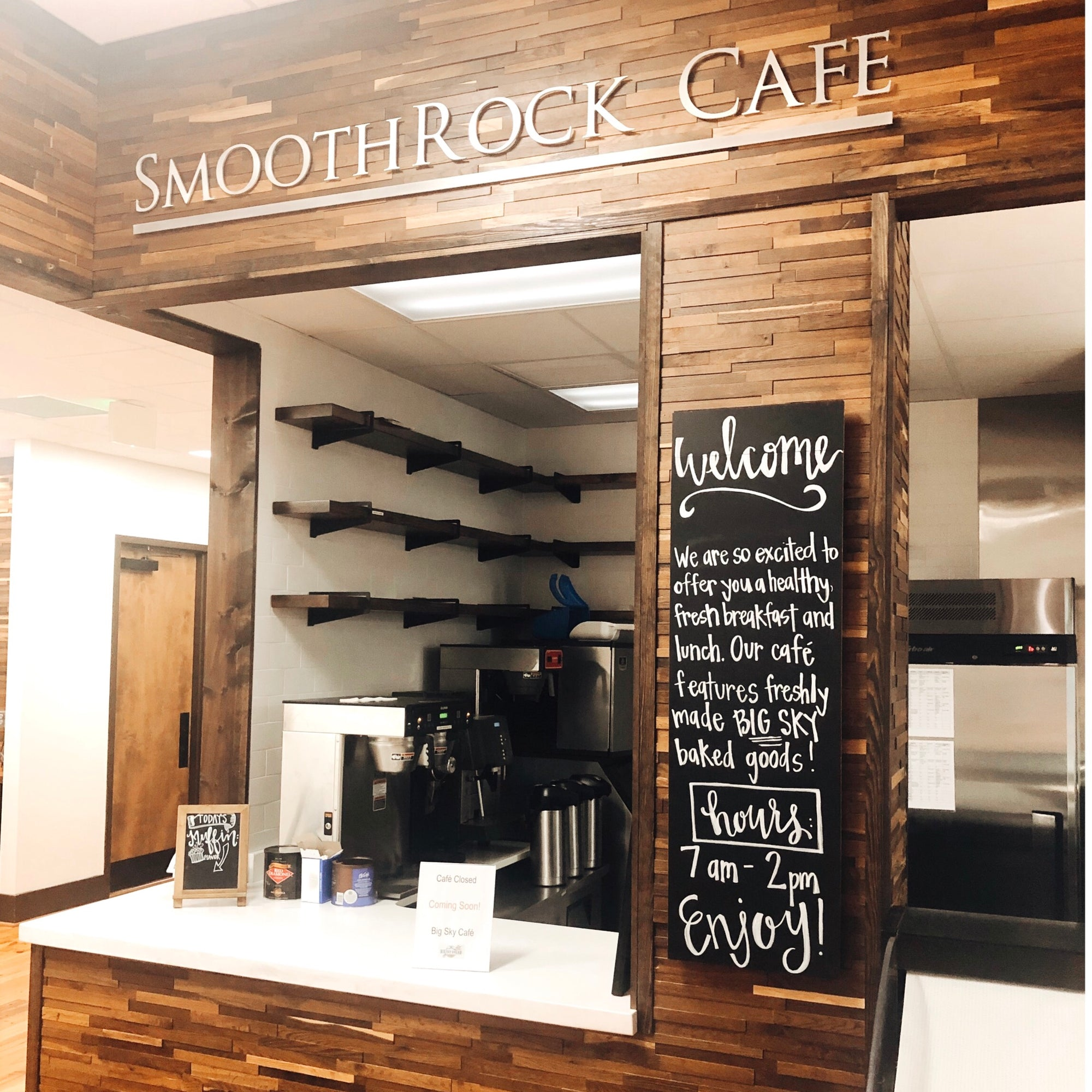 "We have some exciting news - Big Sky is opening a cafe featuring fresh Big Sky Bread baked goods right next to our bakery in Liberty Park. The restaurant is called ""SmoothRock Cafe"" and will operate from 7 am - 2 pm Monday through Friday."