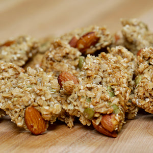 Big Sky granolas have a lightly sweetened oatmeal base and are loaded with healthy ingredients like whole almonds, wildflower honey, whole grain oats, sunflower, sesame and pumpkin seeds.