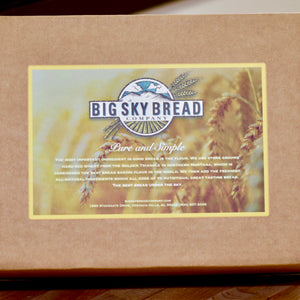 At Big Sky Bread Company we're excited to offer you the very best, whole grain baked goods delivered right to your home.  We use only the freshest, all-natural ingredients hand-selected from around the world. Our premium wheat is from the Golden Triangle.