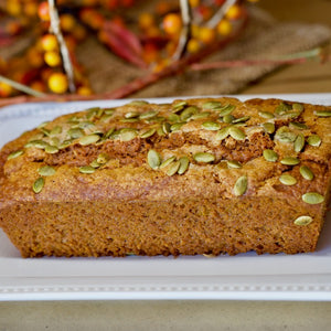 A Big Sky favorite! This moist and delicious pumpkin bread is perfect for breakfast, tea parties, office meetings or a house warming gift. Made with rich, Montana whole wheat flour.