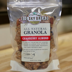 Big Sky Bread Company All Natural Cranberry Almond Granola