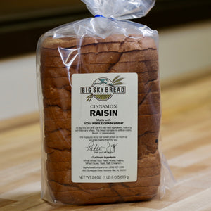Big Sky Bread Company Whole Wheat Cinnamon Raisin Bread