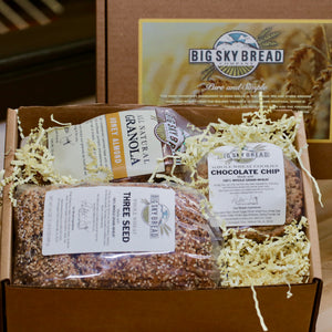 Big Sky Bread Company Gift Boxes... A perfect way to brighten someones day or to let them know you're thinking of them.