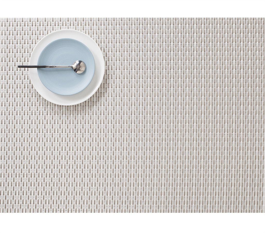 Wicker Placemat, Platinum