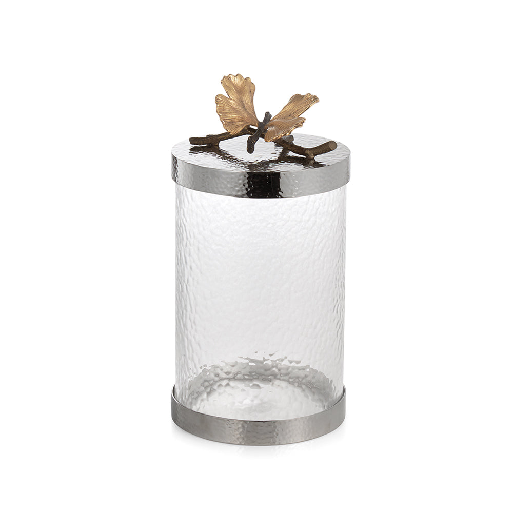 Butterfly Ginkgo Canister, Medium