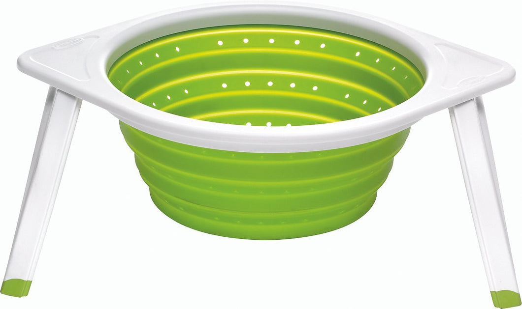 Sleekstor Collapsible Large Colander, Arugula/Meringue