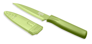 Serrated Paring Knife, Green