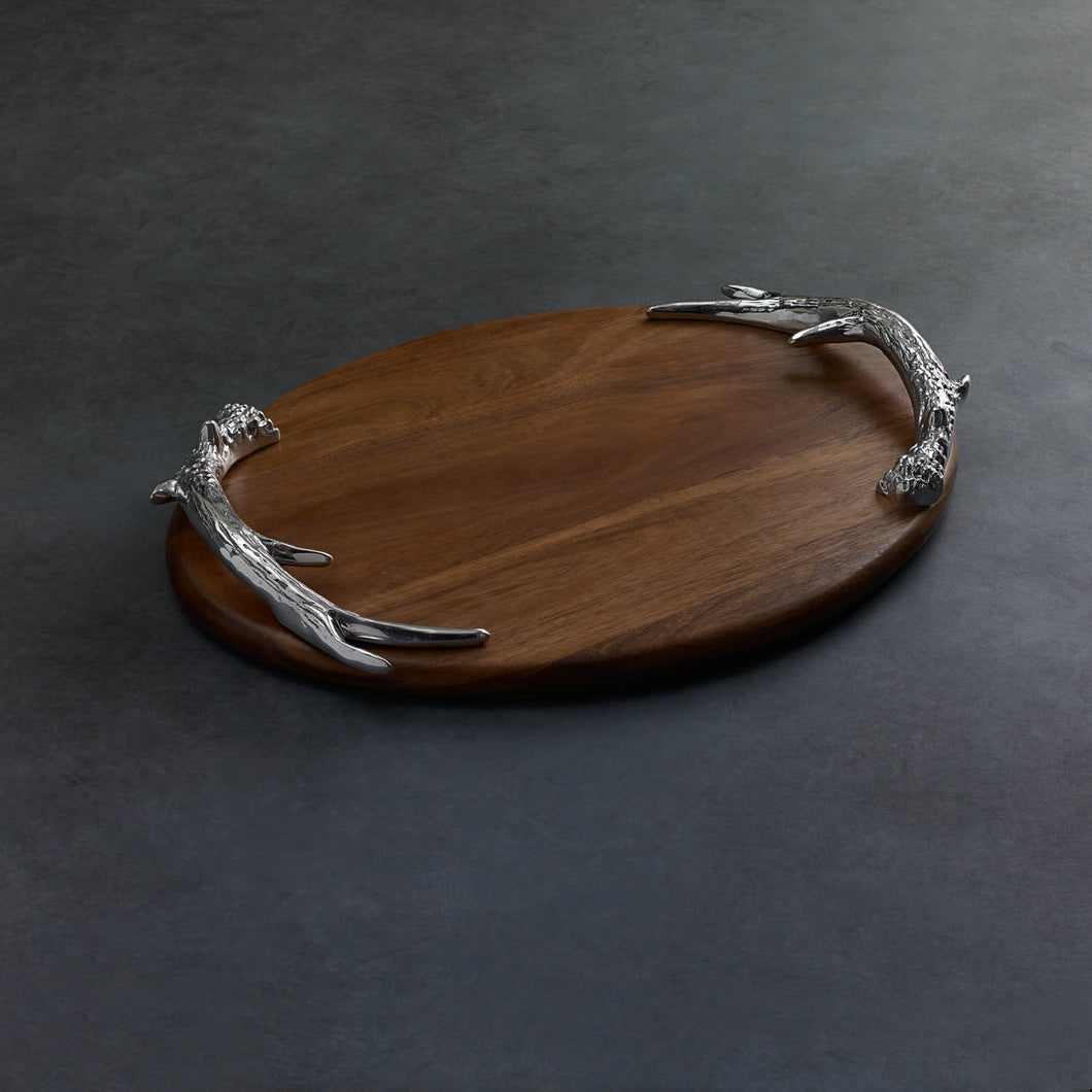 Cutting Board Western Antler Oval Lg