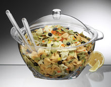 Iced Salad Bowl with Domed Lid & Servers