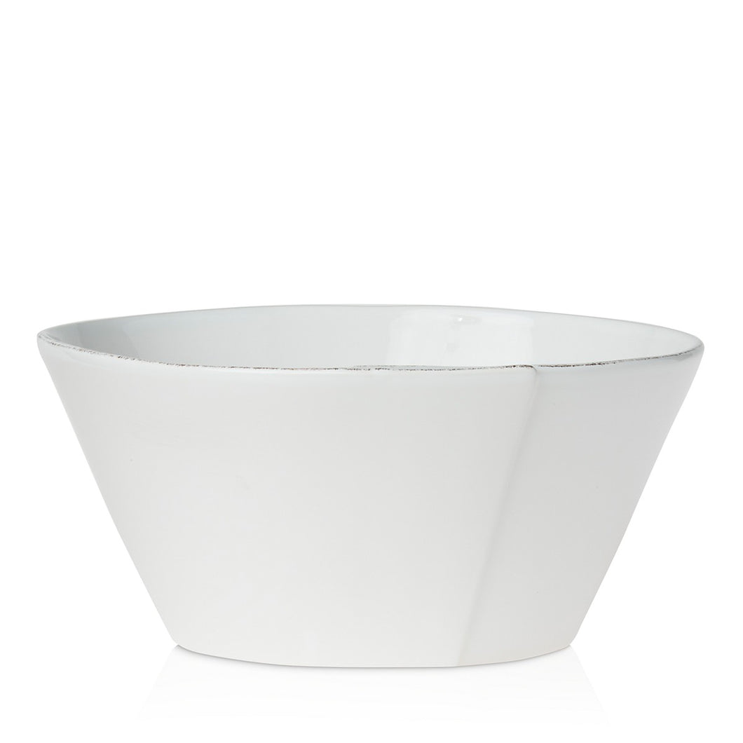 Lastra Large Stacking Serving Bowl White