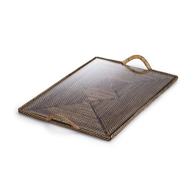 Rectangular Tray with Glass, Medium