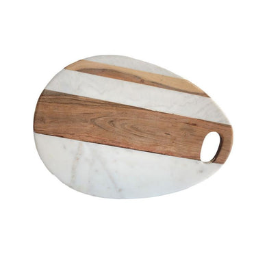 Marble & Wood Egg Cheese Board