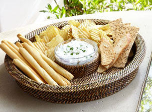 Round Chip & Dip with Bowl