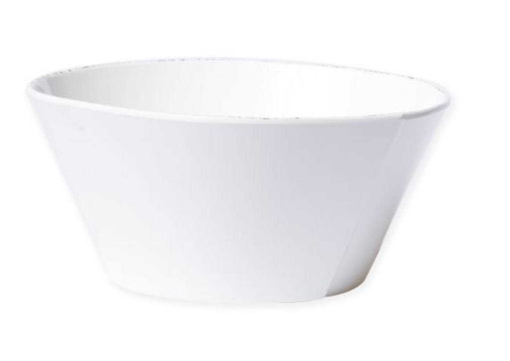 Lastra Melamine Large Stacking Serving Bowl White