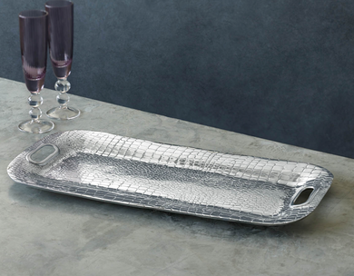 Croc Long Rectangular Tray w/ Handles