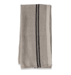 Linen Tea Towel Black Stripe